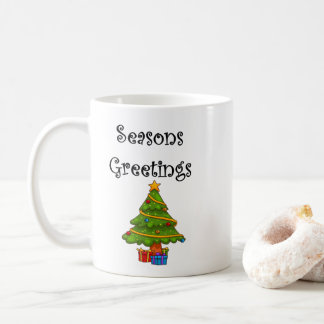 Christmas Tree Seasons Greetings Coffee Mug