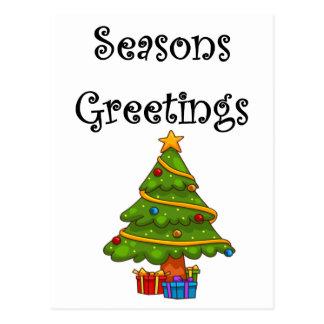 Christmas Tree Seasons Greetings Postcard