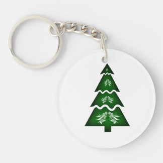 Christmas Tree Sectional call ornament 2 Double-Sided Round Acrylic Keychain