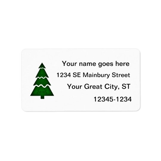Christmas Tree Sectional with call ornament green. Label