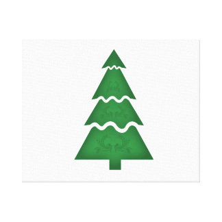 Christmas Tree Sectional with call ornament teal.p Canvas Print