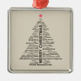 Christmas Tree Shape From Letters Christmas Ornament