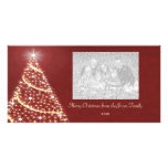 Christmas Tree Shimmer Photo Card Template