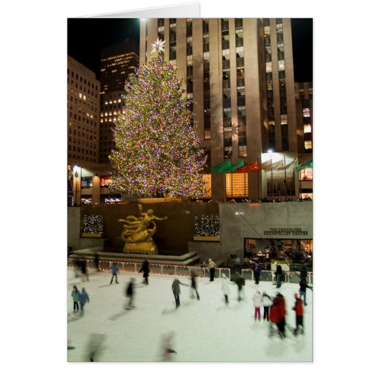 Christmas Tree Skaters Card
