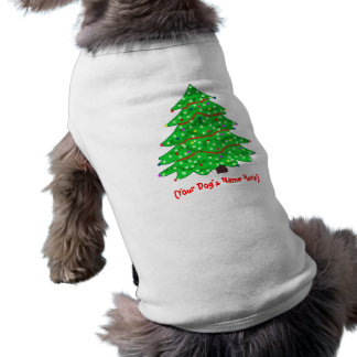 Christmas Tree Sleeveless Dog Shirt