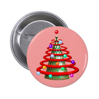 CHRISTMAS TREE SMALL BUTTON 2¼ Inch