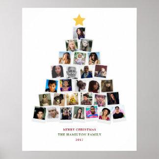 Christmas Tree Snapshots Art Poster