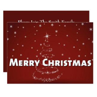 Christmas Tree Snowflakes Card