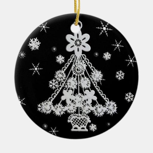 Christmas Tree & Snowflakes Christmas Tree Ornaments