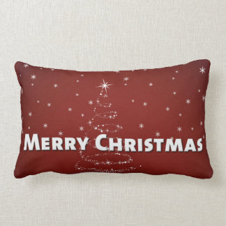 Christmas Tree Snowflakes Lumbar Cushion