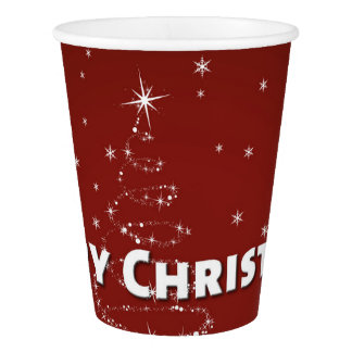 Christmas Tree Snowflakes Paper Cup