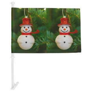 Christmas tree snowman decoration car flag
