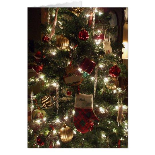 christmas tree sparkles card
