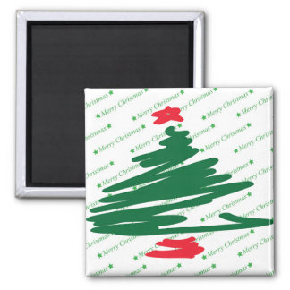 Christmas Tree Square Magnet