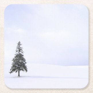 Christmas Tree Square Paper Coaster