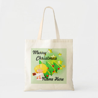 Christmas Tree & Stars Tote Bag