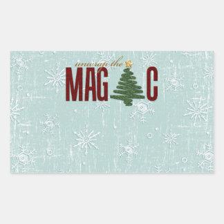 Christmas Tree Rectangular Stickers