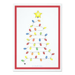 Christmas Tree String of Lights Holiday Party 13 Cm X 18 Cm Invitation Card