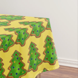 Christmas Tree Sugar Cookie Baking Holiday Xmas Tablecloth