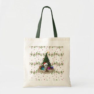 Christmas Tree Teddy Tote Bag