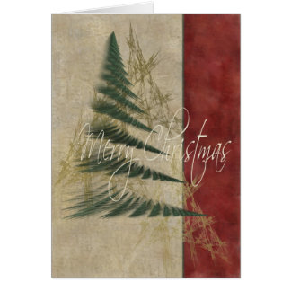 Christmas Tree Textures Greeting Card