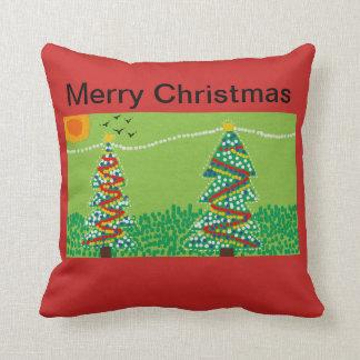 Christmas tree throw cushion