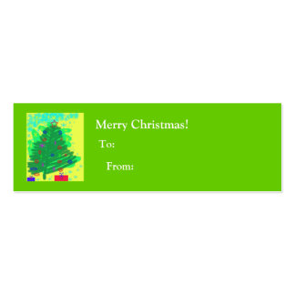 Christmas Tree -To and From Business Card