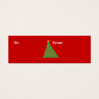 Christmas Tree, To:, From: Mini Business Card