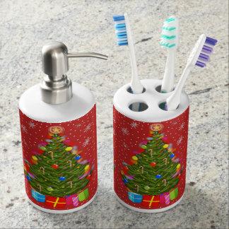 Christmas Tree Toothbrush Holder & Soap Dispenser