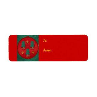 Christmas Tree Trinity, Return Address Label