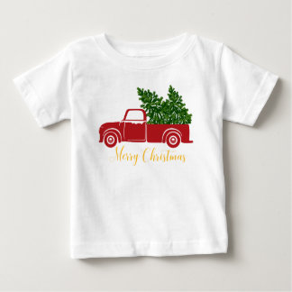 Christmas tree truck Baby T-Shirt