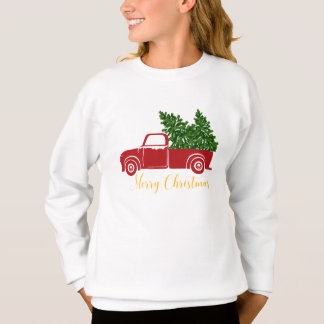 Christmas tree truck Girl's Sweatshirt