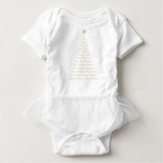 Christmas Tree Tutu all in one Baby Bodysuit