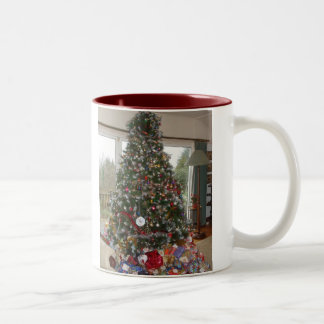 Christmas Tree Two-Tone Coffee Mug