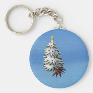 Christmas tree uprooted flying off holiday travel key chains