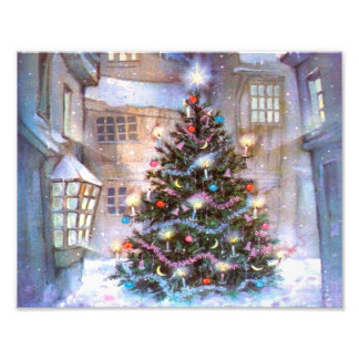 Christmas Tree Vintage Art Photo