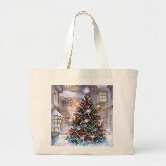 Christmas Tree Vintage Jumbo Tote Bag
