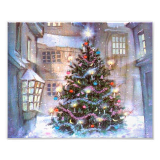Christmas Tree Vintage Photo Print