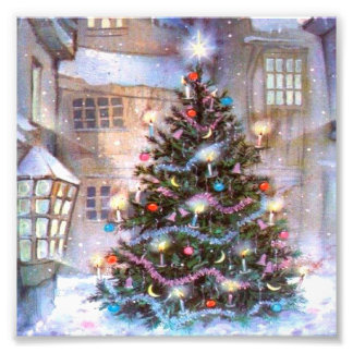 Christmas Tree Vintage Photograph