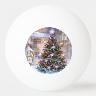 Christmas Tree Vintage Ping Pong Ball