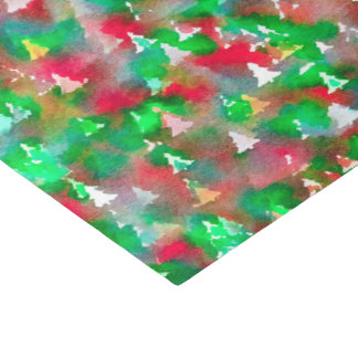 Christmas Tree Watercolor Pattern Tissue Paper