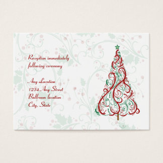 Christmas Tree Wedding Reception Card