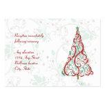 Christmas Tree Wedding Reception Card
