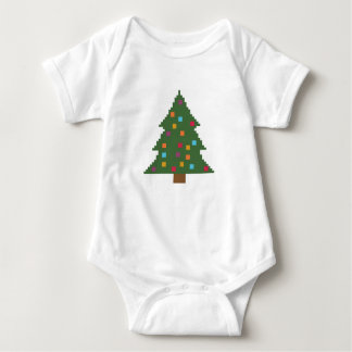 Christmas tree with baubles baby bodysuit