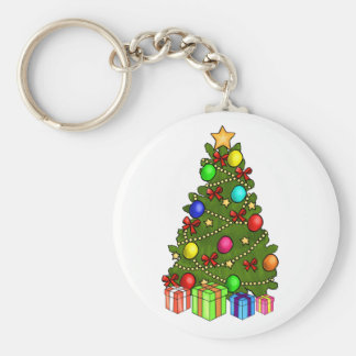 Christmas Tree with Decorations Keychains