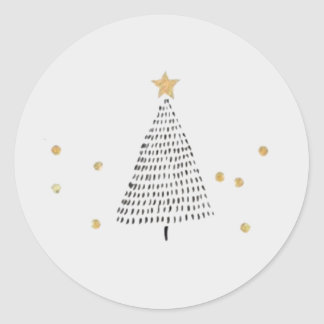 Christmas Tree with Gold Dots Sticker