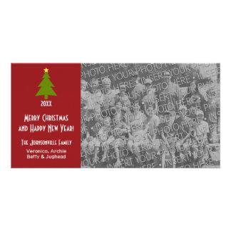 Christmas Tree with one large photo Custom Photo Card