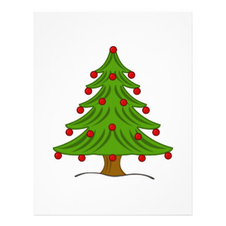 Christmas Tree with Red Ornaments 21.5 Cm X 28 Cm Flyer