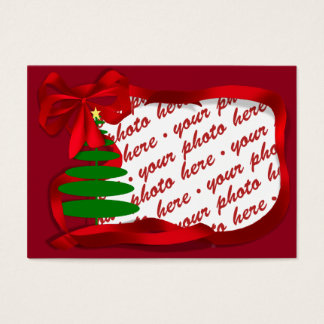 Christmas Tree with Red Ribbon Photo Frame