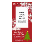 Christmas Tree with Snowflakes Photo Card Template